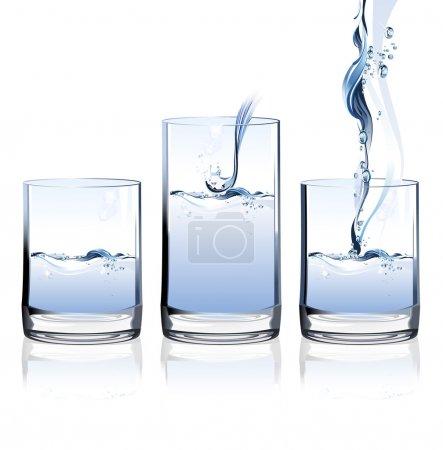Illustration pour Verre d'eau . - image libre de droit