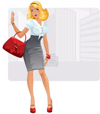 Photo for Cute and sexy business lady - Royalty Free Image