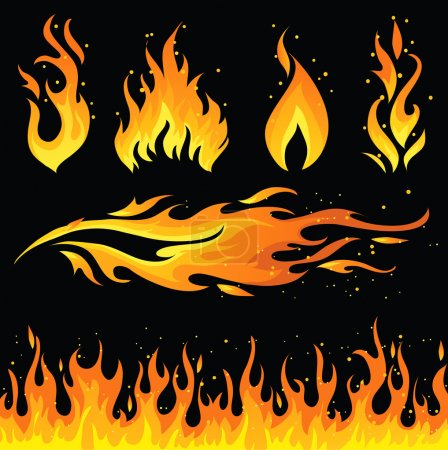 Illustration for Fire icon set - Royalty Free Image