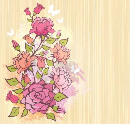 Illustration pour Rose fond - image libre de droit
