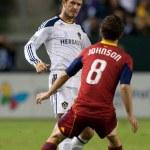 Los Angeles Galaxy midfielder David Beckham N23 tr...
