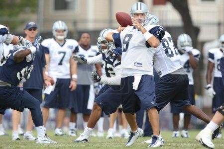 TONY ROMO in action during the second day of the game