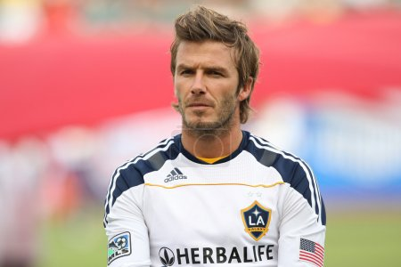 David Beckham before the game