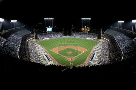 A general view of Dodger Stadium during the game