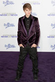 JUSTIN BIEBER arrives at the Paramount Pictures Justin Bieber: Never Say Never premiere