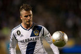 David Beckham during the Major League Soccer game