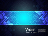 Abstract creative technology background with black banner.