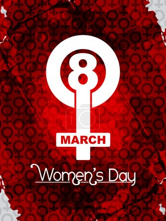 Illustration for Vector illustration of beautiful women's day background. - Royalty Free Image