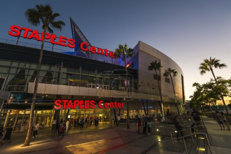 Los Angeles, USA - September 14: Sunset at Staples Center in Los Angeles