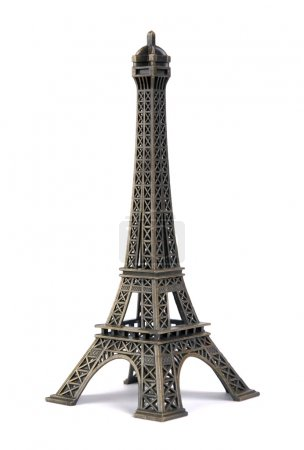 Photo for Statue of eiffel tower isolated on white - Royalty Free Image