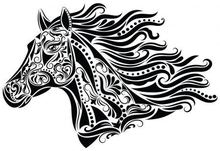Illustration pour Modèle en forme de cheval . - image libre de droit
