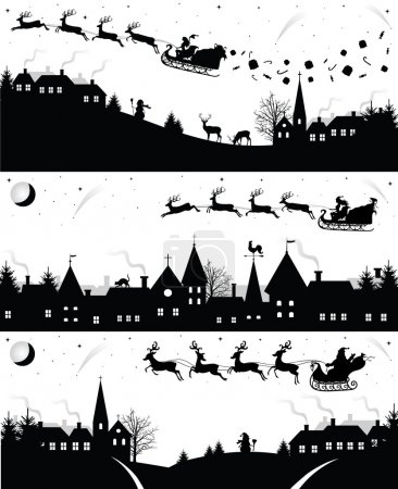 Christmas silhouettes.