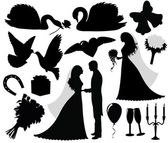 Collection of a wedding silhouettes
