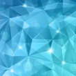 Abstract blue crystal background....