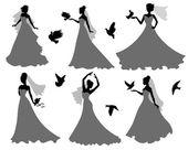 Bride and birds