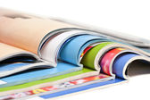 Color magazines isolated on the white