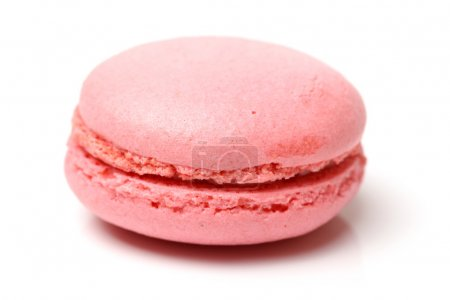 Photo for Gentle pink macaroon on white background - Royalty Free Image