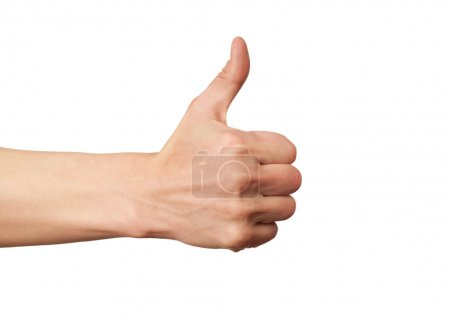 Hand sign thumbs up