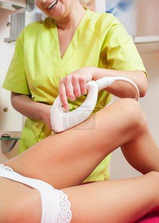 Woman cellulite treatment