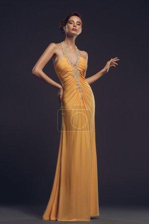 Woman wearing evening dress