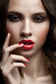 Woman with stylish makeup
