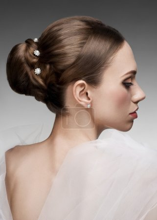 Woman with beautiful hairstyle