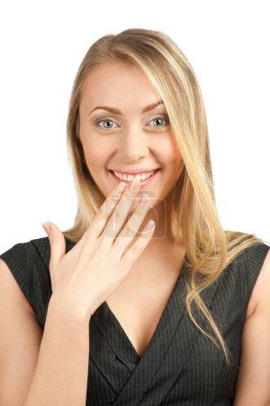 Portrait of surprised attractive businesswoman