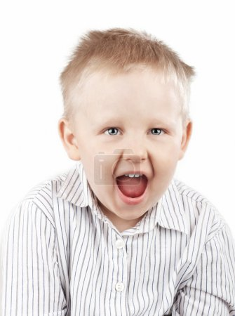 Portrait of a Screaming Boy
