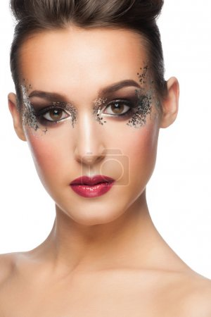 Woman with Facny Makeup