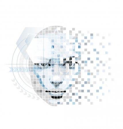 Compute-minded abstract vector artwork