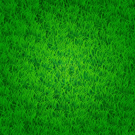 Illustration for Green grass background with darkened edges. Isn't seamless - Royalty Free Image