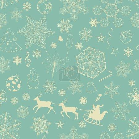 Christmas seamless retro pattern