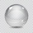 Transparent  glass sphere with shadow on a plaid b...