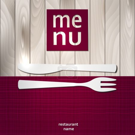 Illustration pour Modèle de carte de menu restaurant Design. Illustration vectorielle. - image libre de droit