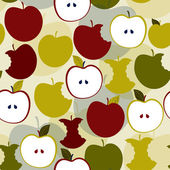 Seamless pattern with apples Vector background