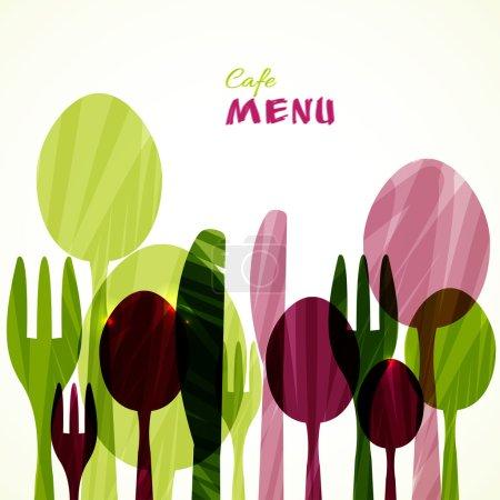 Illustration pour Modèle de carte de menu restaurant Design. Illustration . - image libre de droit