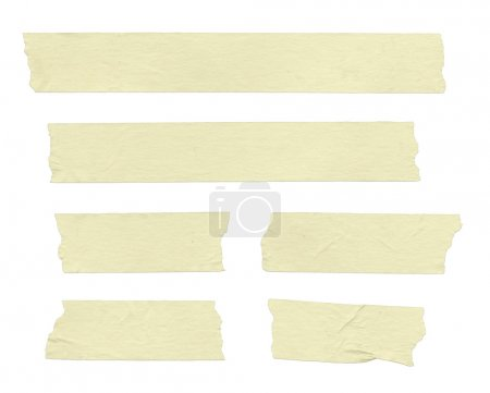 Photo for Strips of masking tape. Isolated on white. Clipping path included. - Royalty Free Image