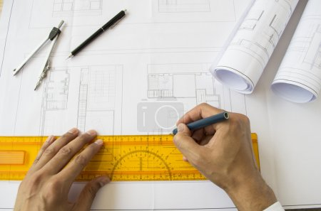 architect designing a plane