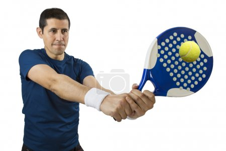 swatting the ball