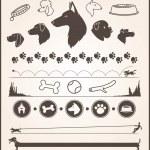 Set of various dog themed design elements...