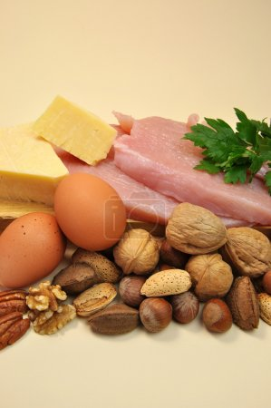 Healthy Food - Sources of Protein (vertical)