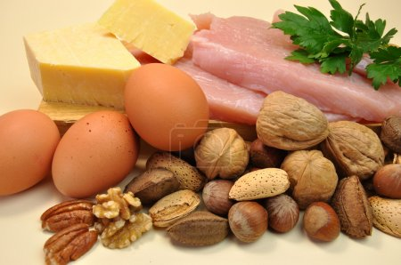 Healthy Food - Sources of Protein.