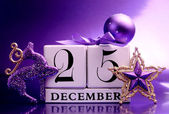 Decorative Calendar for Christmas Day in Purple Theme
