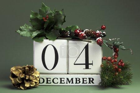 December seasonal save the date calendar