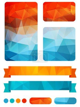 Set of colorful design elements