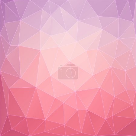 Illustration for Colorful abstract geometric background with triangular polygons (low poly). Vector illustration. - Royalty Free Image