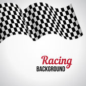 Background with checkered racing flag