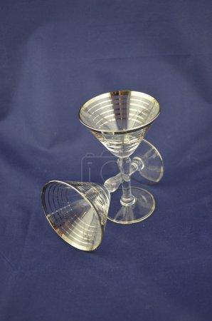 Elegant cocktail glasses