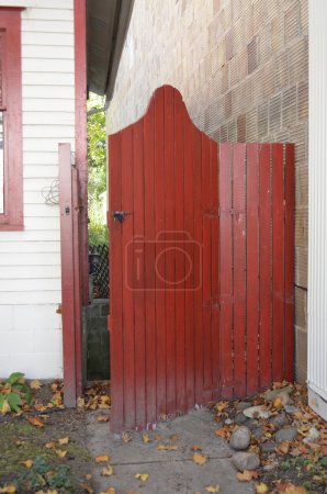 Beautiful wooden gate
