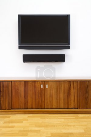 TV and cabinet vertical